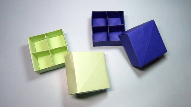 儿童365bet网上娱乐_365bet y亚洲_365bet体育在线导航折纸礼品盒子,简单的带盒盖和分格的收纳盒折纸