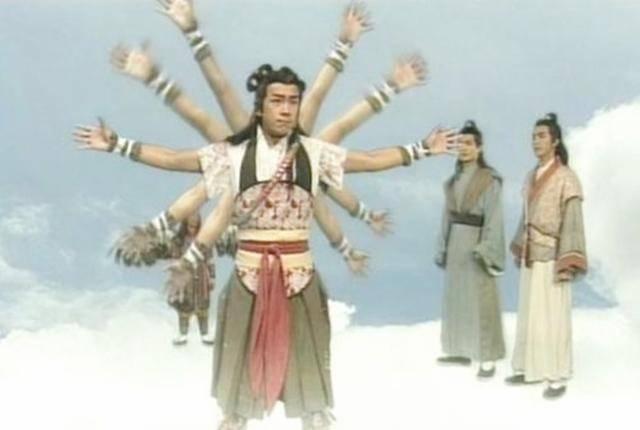 可是,与其同时期的《封神演义》,它里面描写的哪吒却是三头八臂.图片