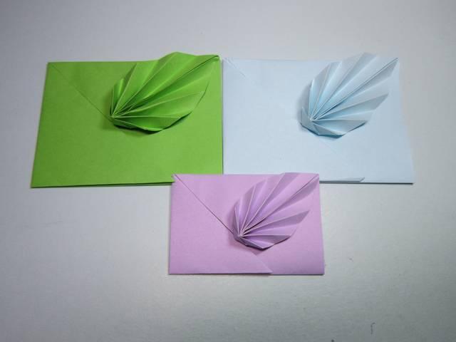 儿童手工折纸信封,简单的树叶信封折法,diy手工制作