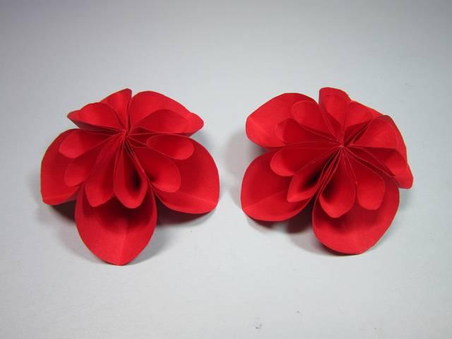 3分鐘學會簡單又美麗的花朵折紙,紙花的折法,diy手工制作圖片