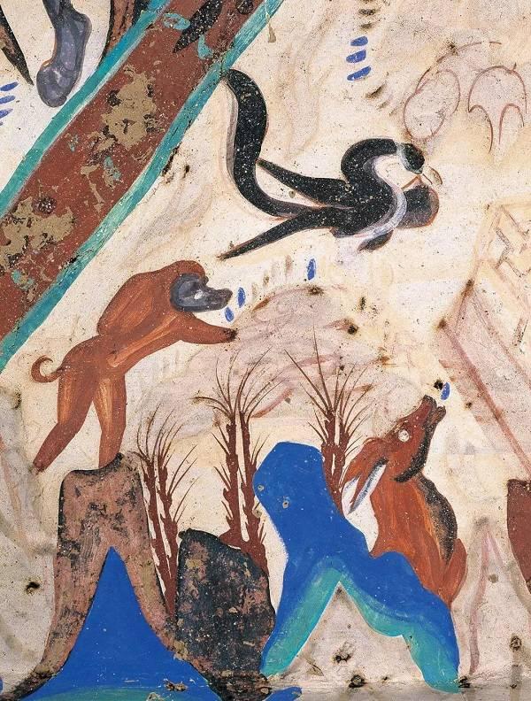 春分时节,看敦煌1600年前的珍禽瑞鸟图片