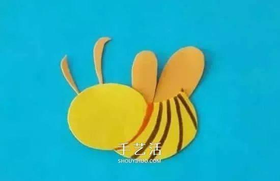 小蜜蜂的剪贴画制作,手里拿着一个绿色小篮子,莫非平日里就是这样去采图片