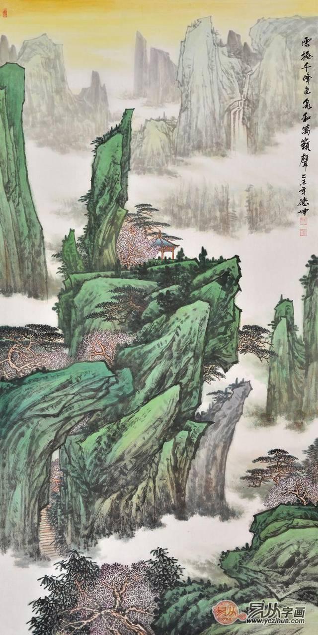 玄关字画应该怎么选?这几幅高档山水画挂玄关更显品味图片