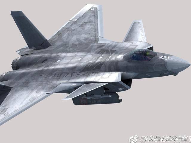 机翼可折叠 航母舰载版歼20战机cg照曝光图片