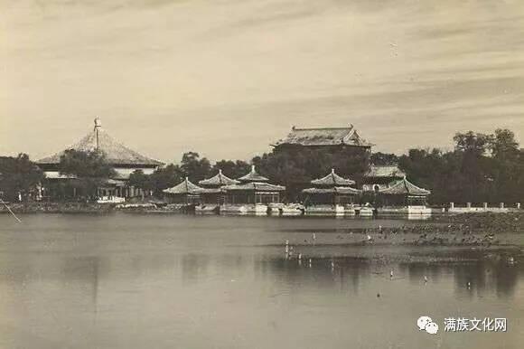 老北京的北海公园建筑物(五)