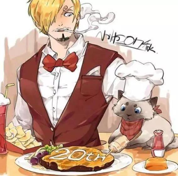 会做饭的猫,这个和山治一样绅士呢