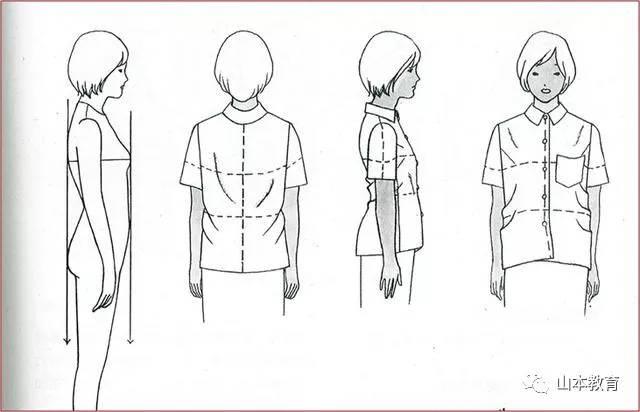 衬衫领子侧面手绘