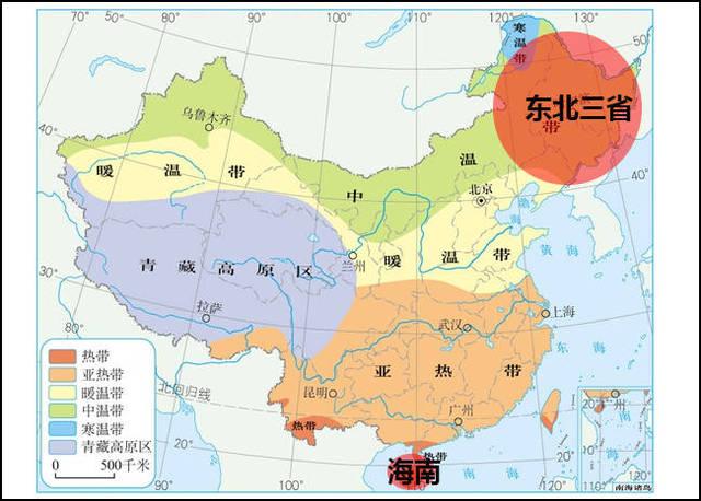 38°n――56°n,而海南省经纬度范围为3.