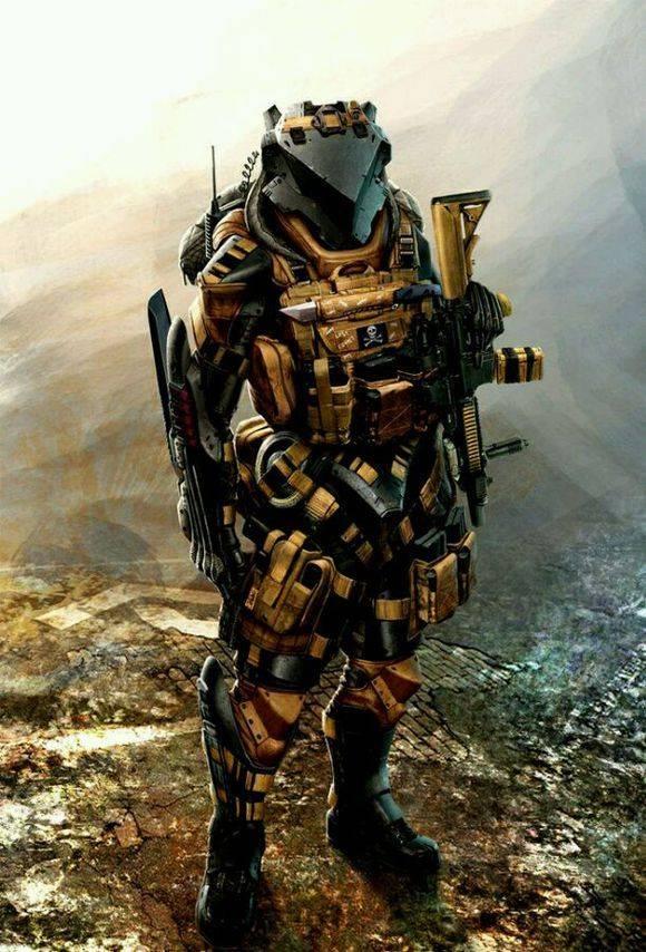看上去足以和铁血战士抗衡的,超科幻的未来外骨骼单兵保护作战系统