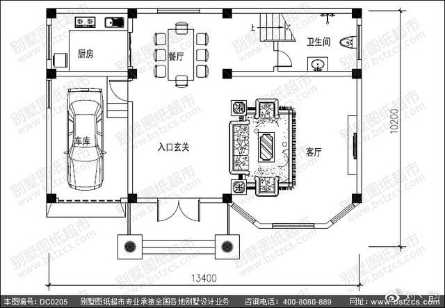 复式别墅设计_复式三层带车库大气别墅设计效果图图片