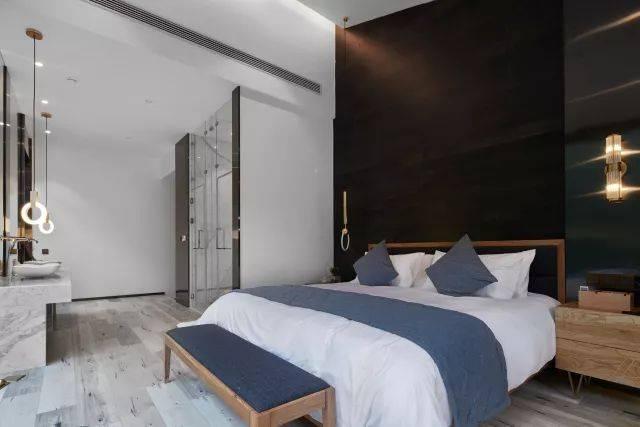 背景墙卧室家居房间设计酒店卧室装修现代装修640_427装修公司设计语图片