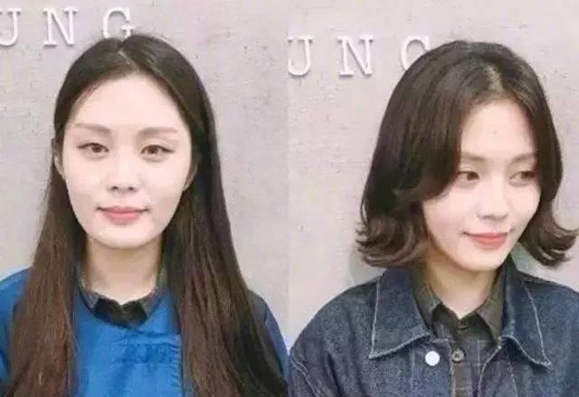 脖子比较短,脸型较圆较大的女生适合什么发型?