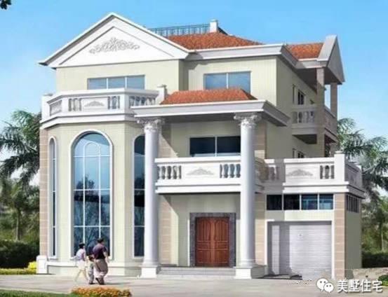 喜欢亮色的新房,这款别墅的外墙颜色不知道您否喜欢呢?白洋淀外墙别墅图片