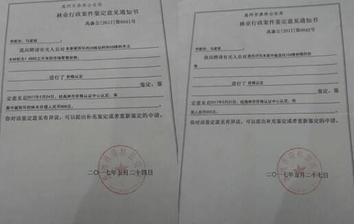 意见_禹州市森林公安局林业行政案件鉴定意见通知书
