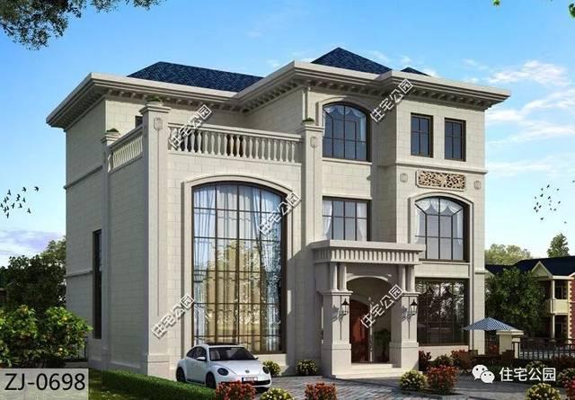 经典欧式风格,高贵典雅,气韵不凡,一直都是乡村建房的首选外观风格之