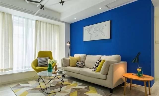 109空调北欧背景,漂亮的车间搭配,新风色彩墙太赞了蓝色卧室系统家装图片