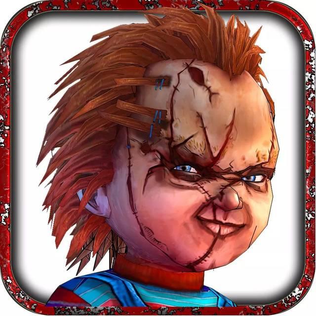 手绘小丑面具恐怖