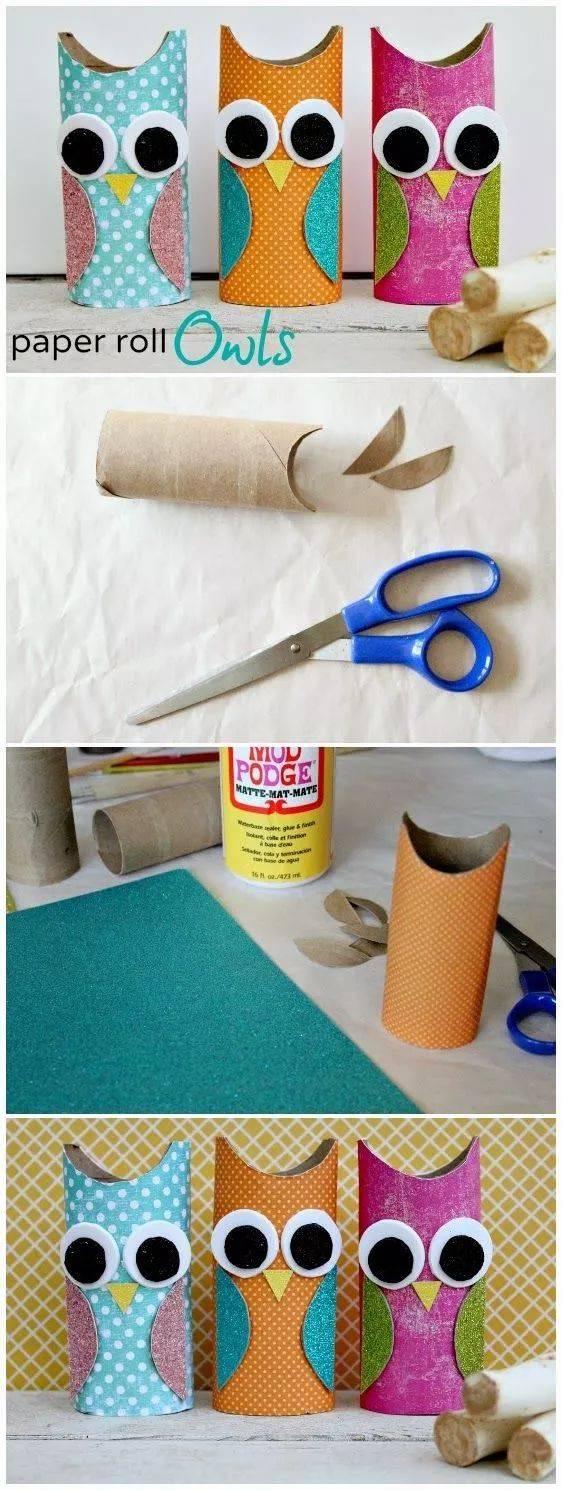多款创意纸筒手工制作