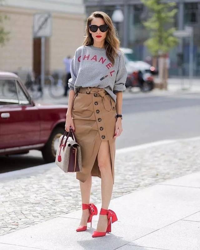欧美时尚街拍:街头各式各样的长腿美女