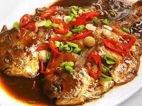 排骨二:红烧鲳鱼吃法炖山药秋后吃好吃图片