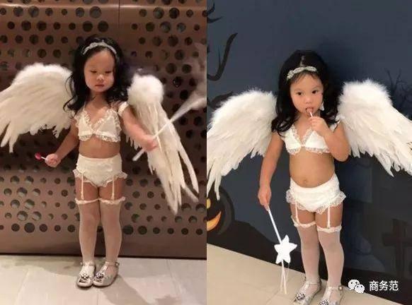 小孩走模特衣服