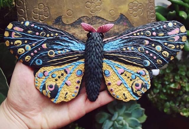 象皮泥手工制作图片 昆虫