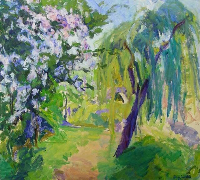 柳树,是春天的树, 它生长迅速,它纤柔细软的柳丝正是象征着情意绵绵呀
