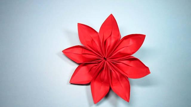 折纸大全简单又漂亮花,3分钟学会花朵的折法