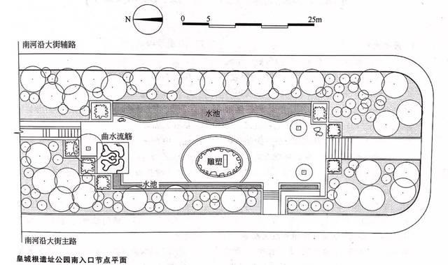 2-皇城根遗址公园南入口节点平面