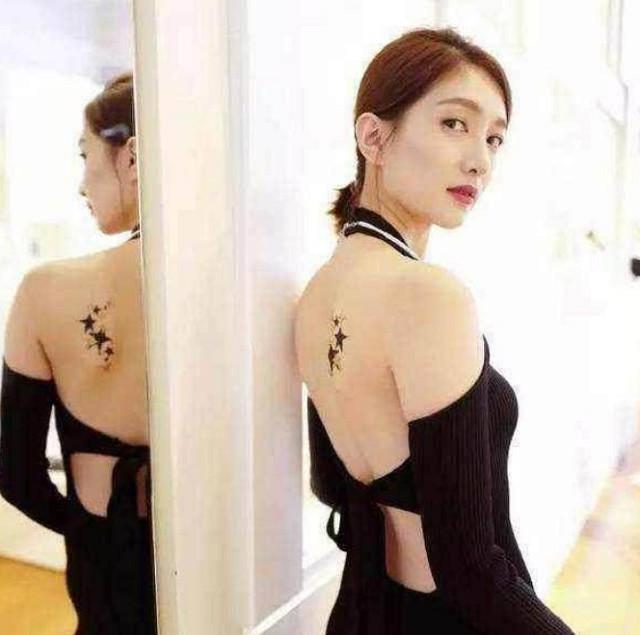 打死你都不会知道:江疏影的纹身,杨幂的纹身,她的纹身图片