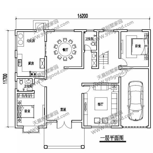 二层别墅设计图:客厅,5个卧室,衣帽间,卫生间,露台,阳台.