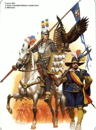 17世纪的波兰翼骑兵与火枪手