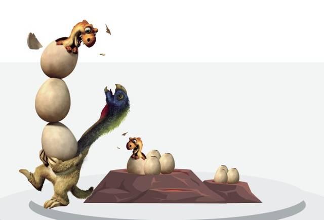别怕,30只偷蛋龙带你躲进小火山 3.图片
