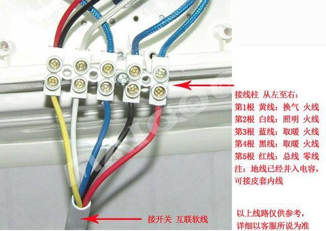 浴霸接線圖 1,傳統四燈浴霸接線圖 正確的接法應該是這樣.