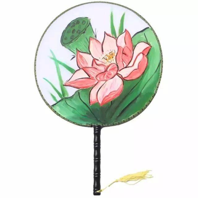 简单手绘圆形扇子图片