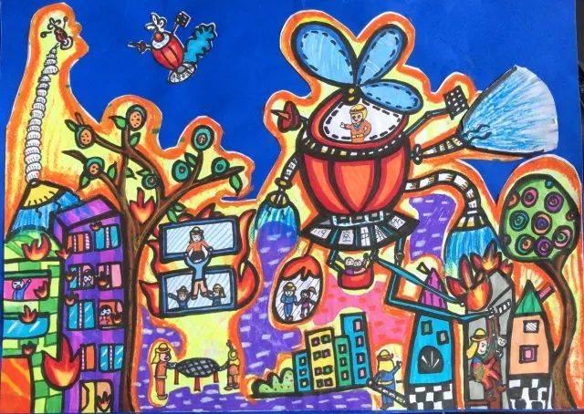 【童心】全市儿童消防作文绘画大赛作品展评(第三期)图片