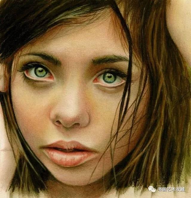彩色铅笔画:那么生动 听得见笑声和哭声