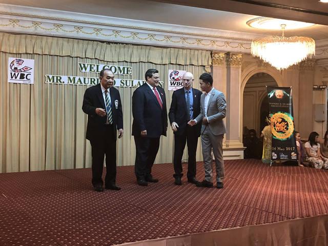 WBC亚洲年会召开 WBC主席苏莱曼赠予陈家树国际推广人奖