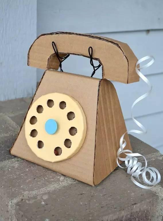 废旧盒子手工制作电话