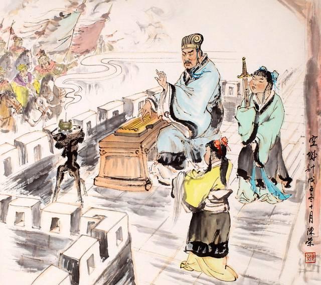 国画家陈荣:水墨状写三国演义人物,再现古典文学优美意境