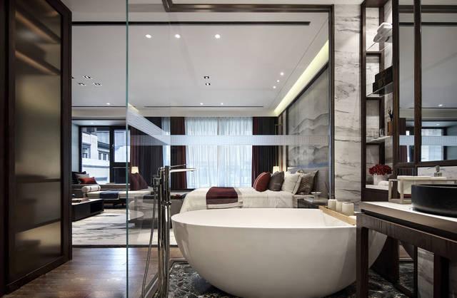 新中式别墅卫浴间照明设计