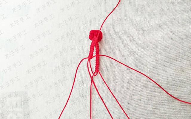 玫瑰花红绳戒指编法 | 木子手工