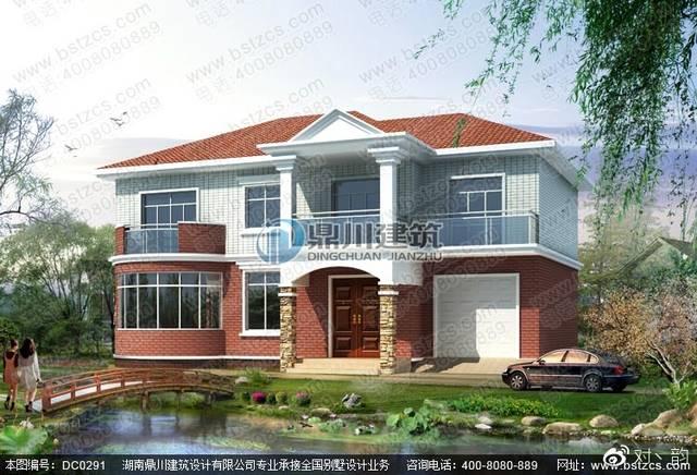 本图纸名称15.3米×11.5米农村二层别墅设计效果图.