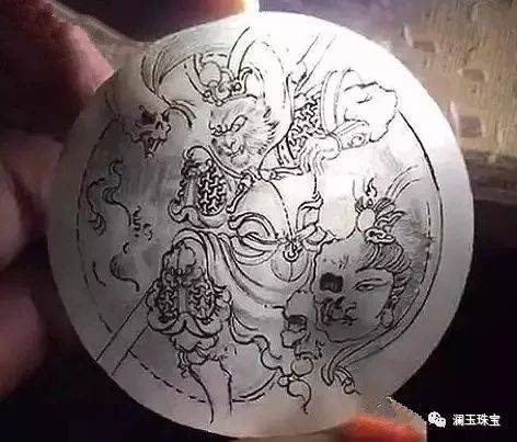 这样的翡翠设计图手稿,给人眼前一亮的感觉图片