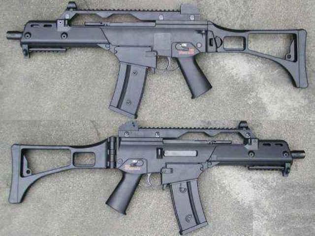M416枪的简笔画