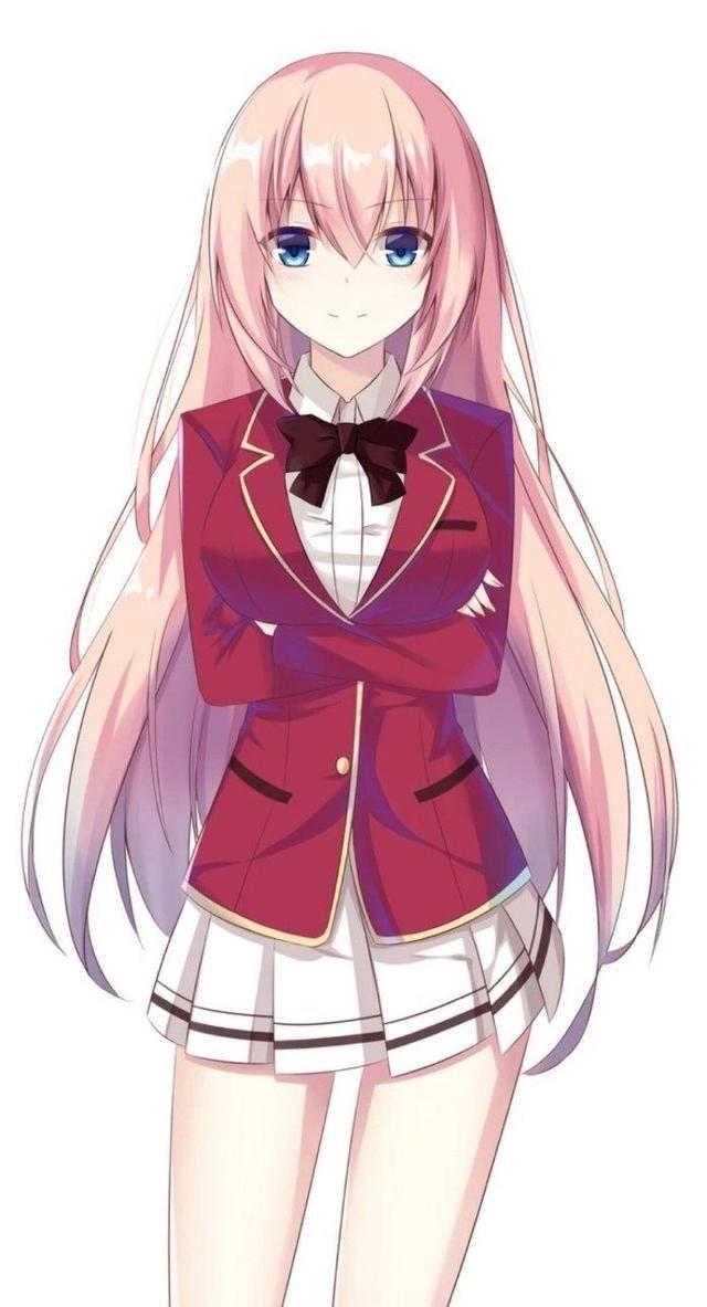 1,《罪恶王冠》蝶祈 她有着一头浅粉色的头发,一双深红色的眼眸,天籁