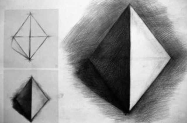 素描三棱锥画法步骤