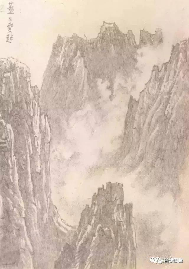 看看大师李可染的铅笔山水画!