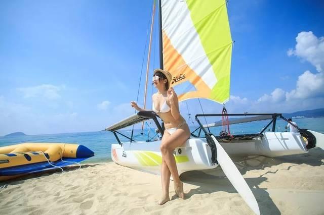 海边附近有选择帆船,海上自行车,皮划艇,根据自己的爱好登山,来一金飞虎租赁图片