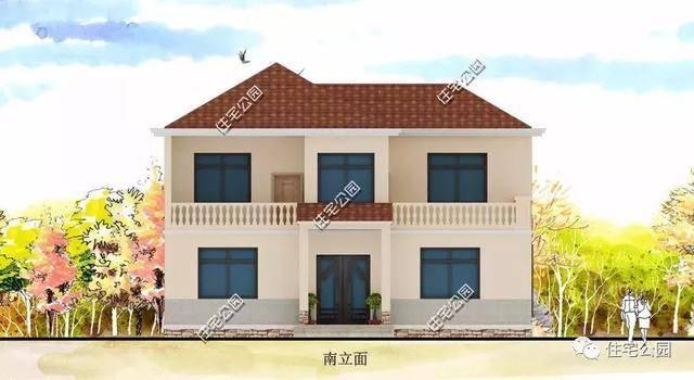 9X12米温馨2层别墅,农村小户型也能设计的很大气